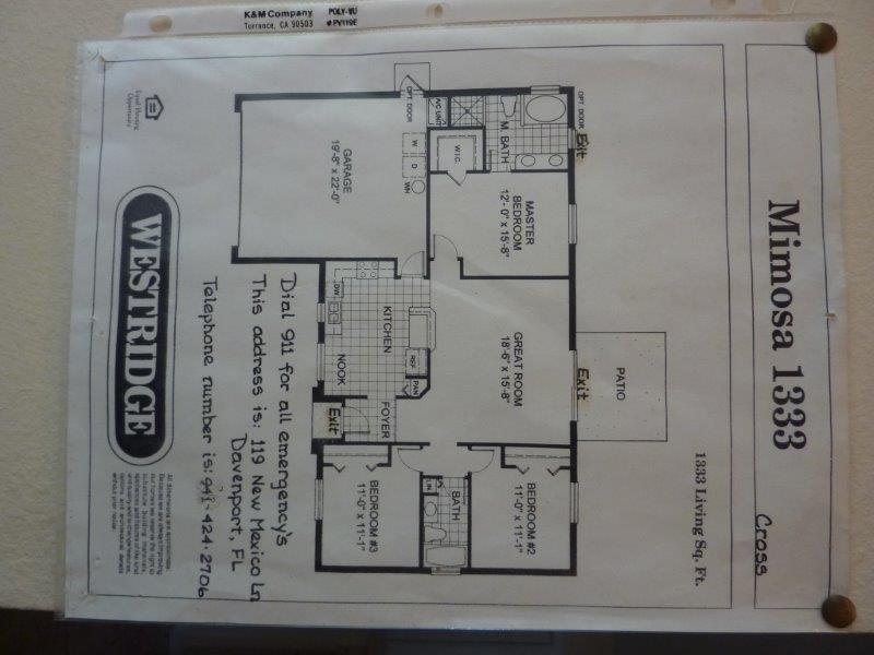 119 New Mexico Lane - Floor Plan