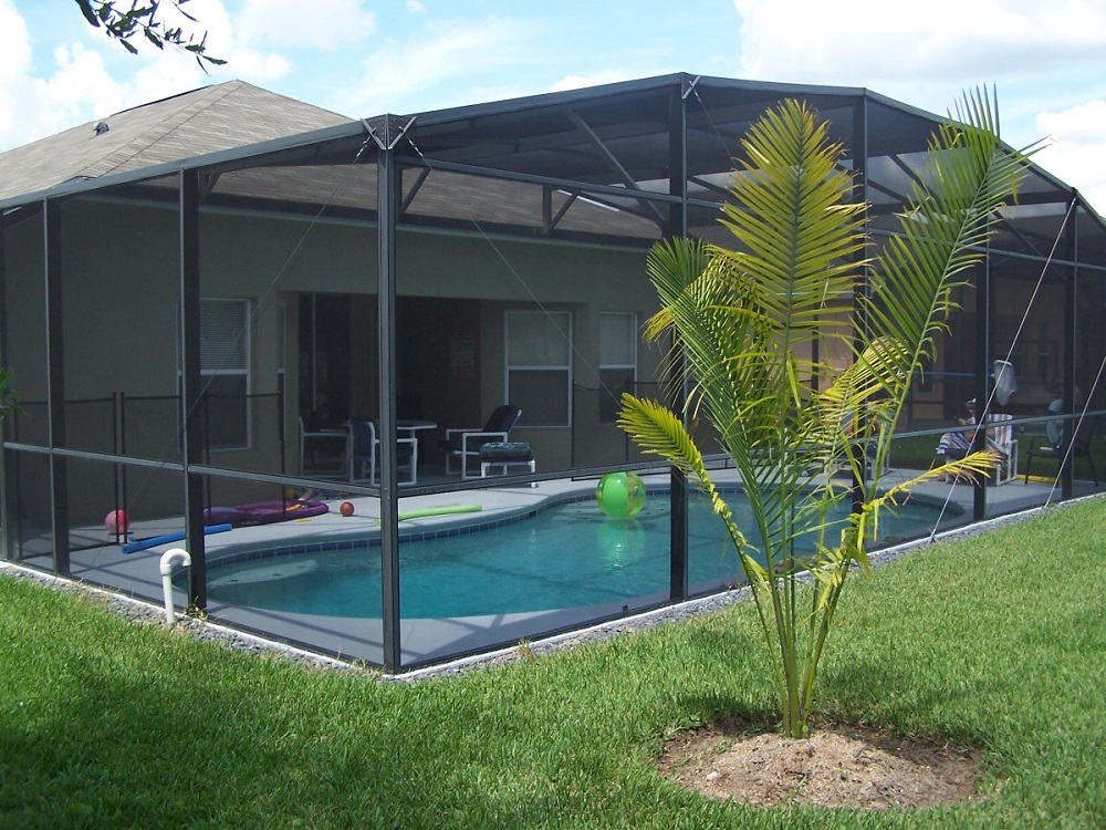 Rear view of Pool area