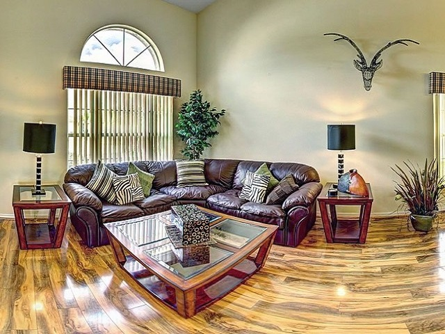 7958 Golden Pond - Front Living room - Pilgrim Homes Florida