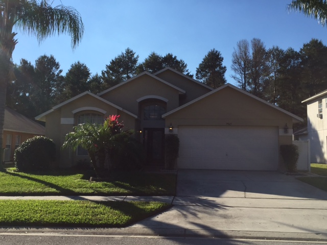 7695 Magnoila Bend - Front View -  Pilgrim Homes Florida